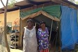 Borroloola residents Linda Owens and her mother Kathleen