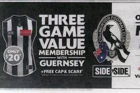 Misleading Collingwood Football advertisement