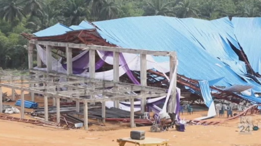 Witnesses describe moment Nigerian church collapsed.