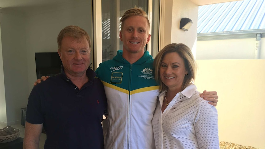 Daniel Smith with parents Steve and Julie