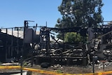 A file photo of a burnt out home in Moree.