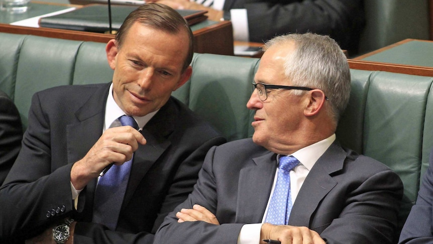 Tony Abbott is facing a challenge from Malcolm Turnbull.