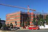 An apartment development under construction