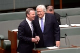 Christopher Pyne and Clive Palmer
