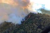 Fire on a hill near St Helens