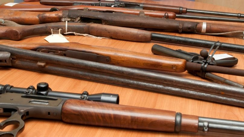 Unregistered firearms handed in to police