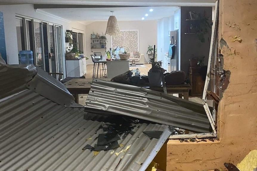 kalbarri house damaged