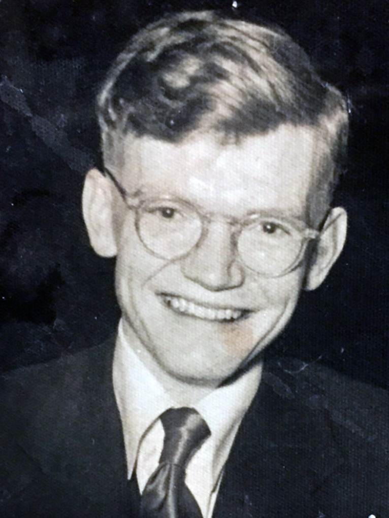 Black and white photo of Peter Fannin in his younger years before moving to Papunya in the West Desert of Central Australia