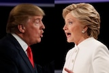 Hillary Clinton and Donald Trump from the third presidential debate