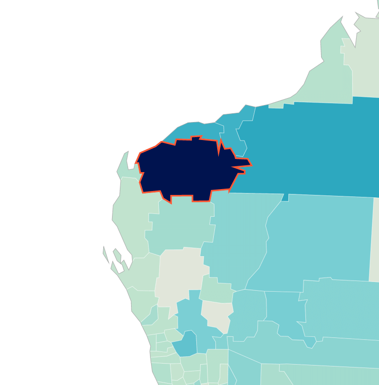 Ashburton map showing top income earners.