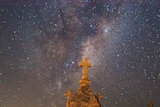 Stars are seen above a graveyard in Australia.