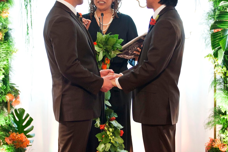 Gay marriage ceremony