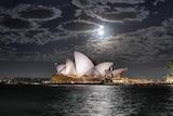 The Sydney Opera House on a moonlit night