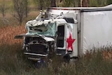 A smashed truck