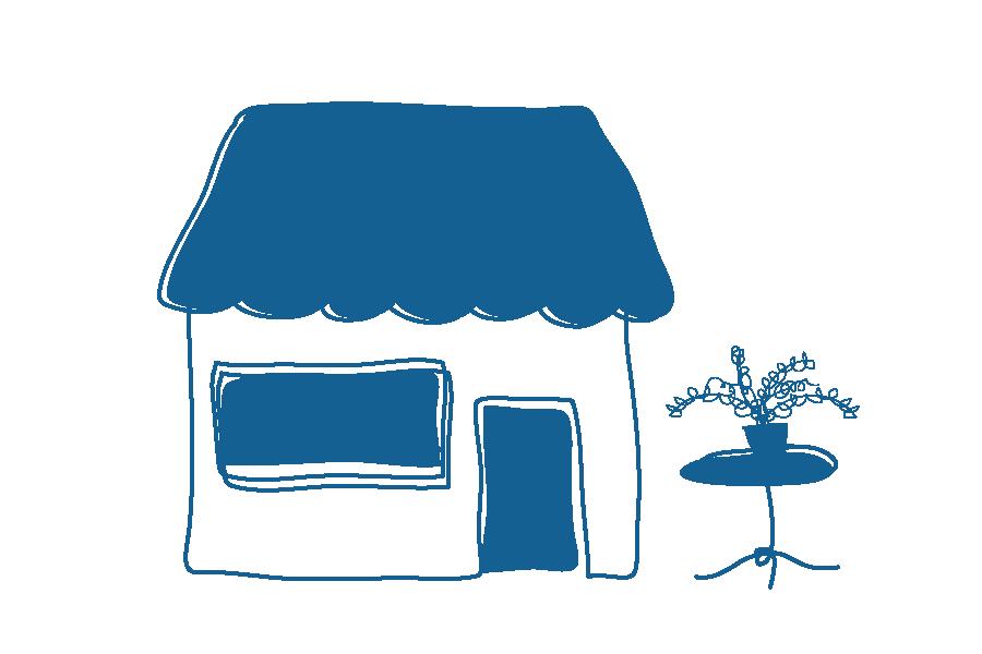 Illustration of shop front
