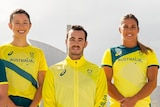 Members of the Australian Olympic Team in their uniforms.