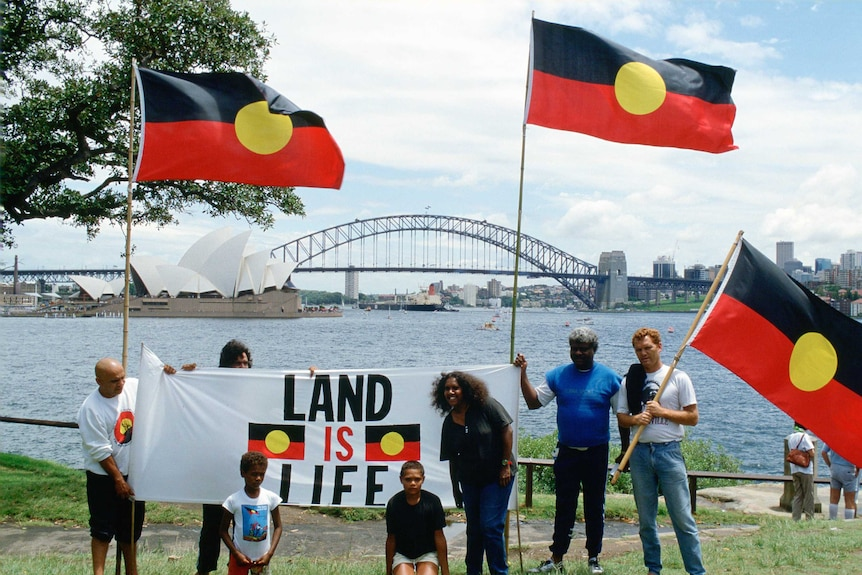 Land rights protest