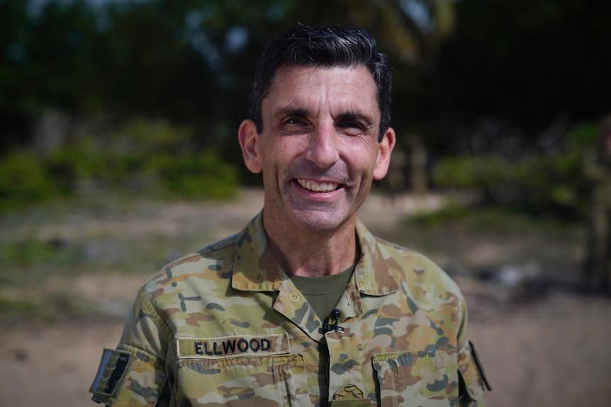 A portrait of Australian Army Officer Major General Jake Ellwood