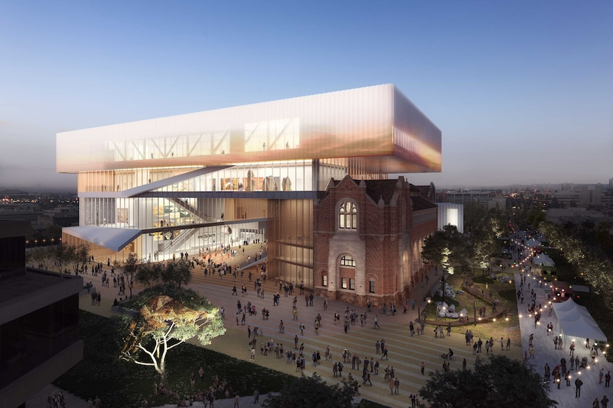 An artist's impression of the planned new WA Museum.