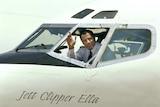 John Travolta at the controls of his 707