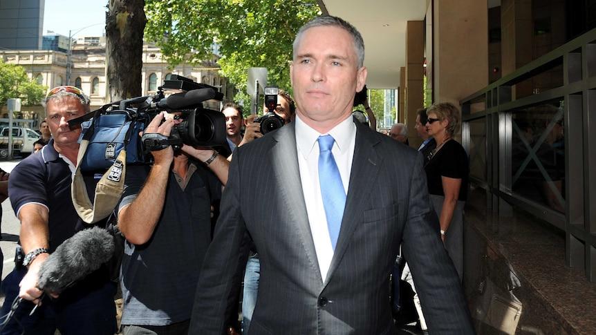 Craig Thomson leaves Melbourne Magistrates Court