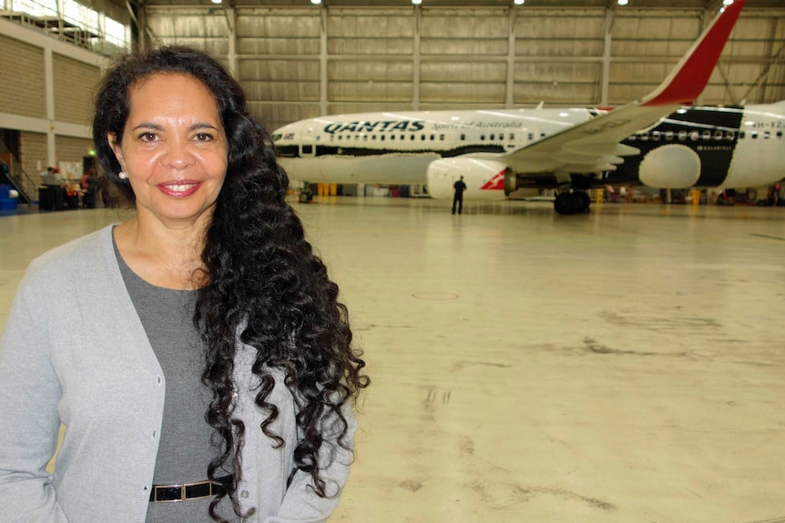 The NGA's Franchesca Cubillo was delighted to see the finished project in a Canberra hanger.