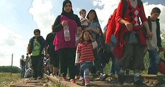 Asylum seekers on their journey through Europe