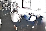 CCTV shows alleged mistreatment at Townsville's Cleveland Youth Detention Centre.
