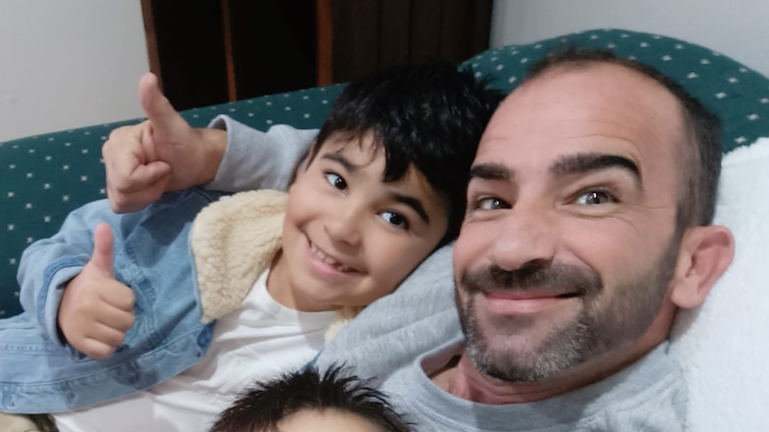 Steven Buhagir and his sons