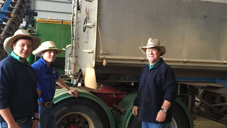 Farmer Andy Mackinnon and his sons.