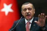 Turkish prime minister Recep Tayyip Erdogan addresses his parliamentary party in Ankara.