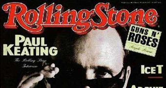 Paul Keating on the cover of Rolling Stone magazine in 1993.
