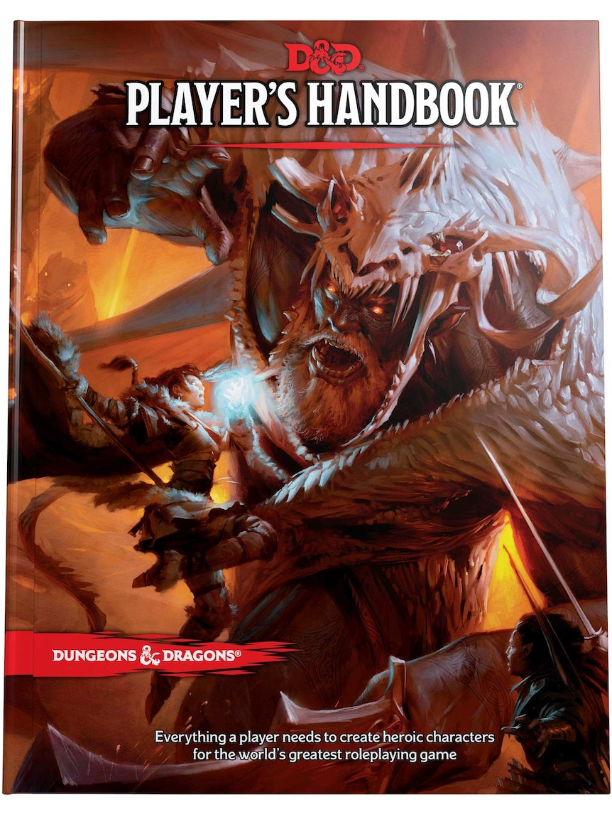 A book cover depicting a drawing of a magical warrior battling an evil giant.