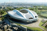 An illustration released from Japan Sport Council on May 28, 2014 shows an artist's impression of the new National Stadium for the 2020 Olympic Games in Tokyo.