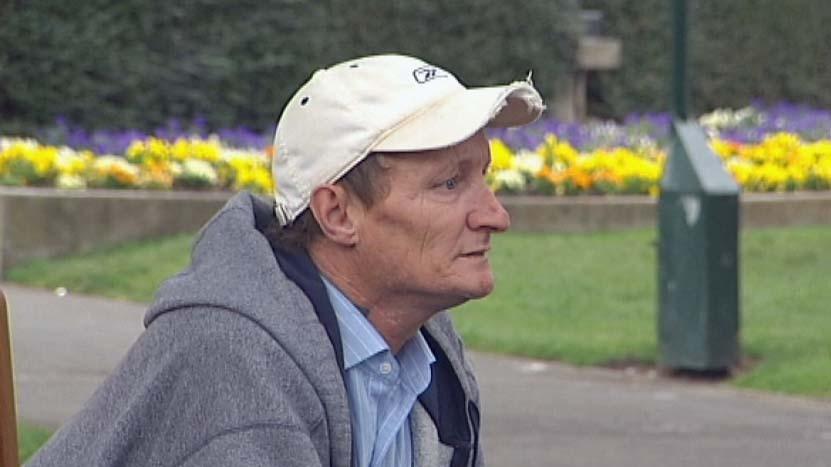 Tasmanian homeless man Darren Guest.