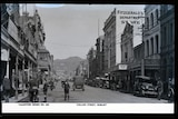 Rose Stereograph collection of images with photo of Hobart's Collins Street