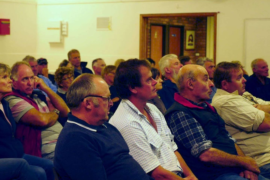 farmers at a meeting