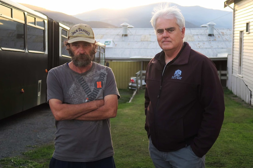 Scott Gadd, with Michael Prestage, at Hobart Showgrounds, April 20, 2018