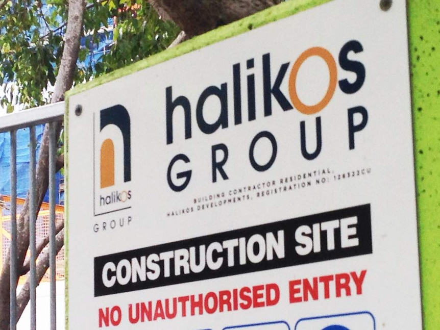 Halikos Group sign outside construction site
