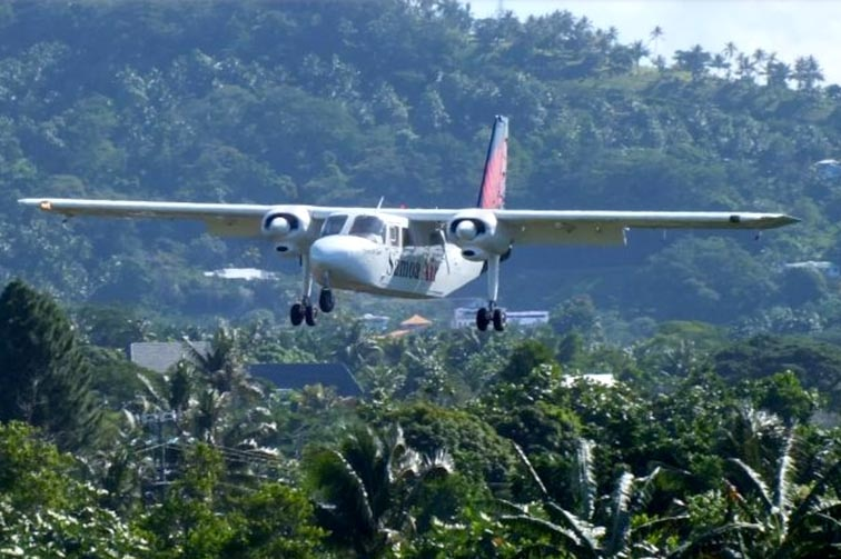 A Samoa Air plane.