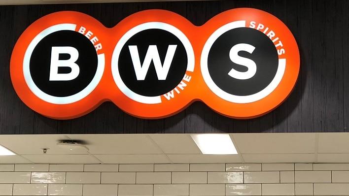 BWS sign above shopfront.