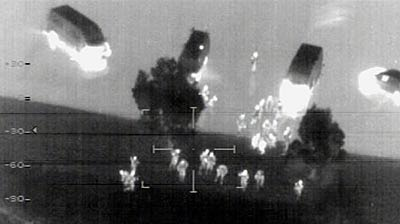 An infrared image taken from a helicopter shows counter-terrorism raids in Sydney. (Reuters)