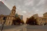Dust over Adelaide's CBD