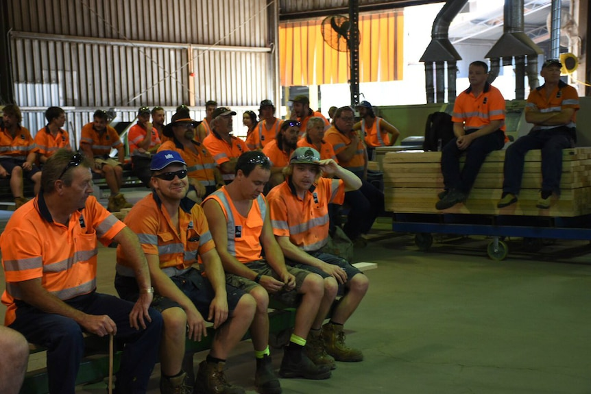 Workers at Heyfield