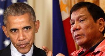 Composite Barack Obama and Rodrigo Duterte