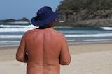 Nudist at A Bay
