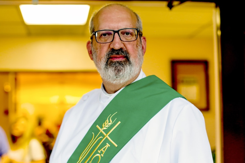A man in church vestments.
