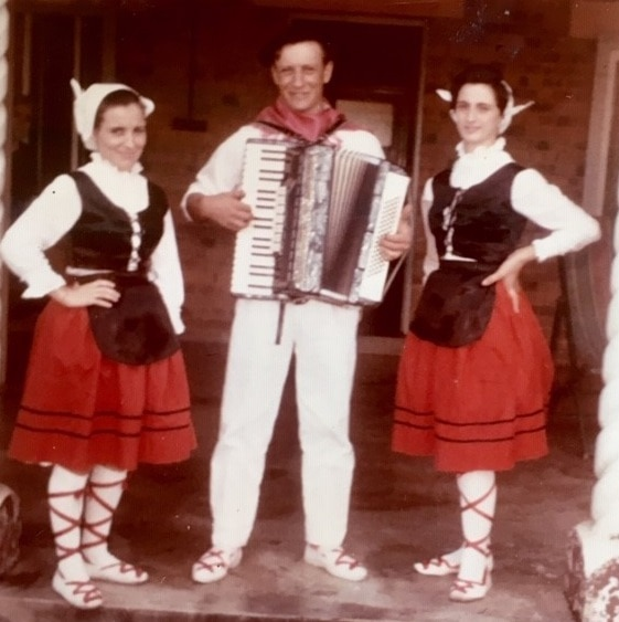 Basque performers in traditional dress