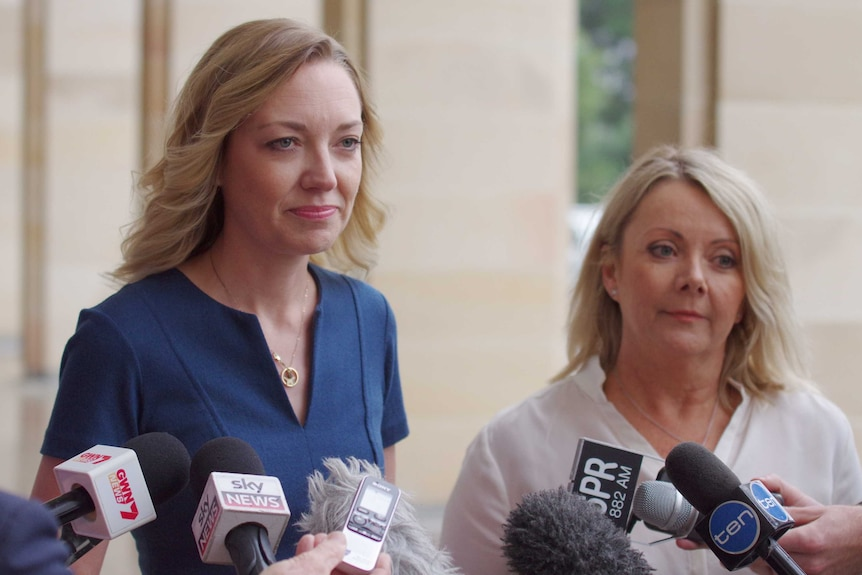 New WA National Party leaders Mia Davies and Jacqui Boydell.
