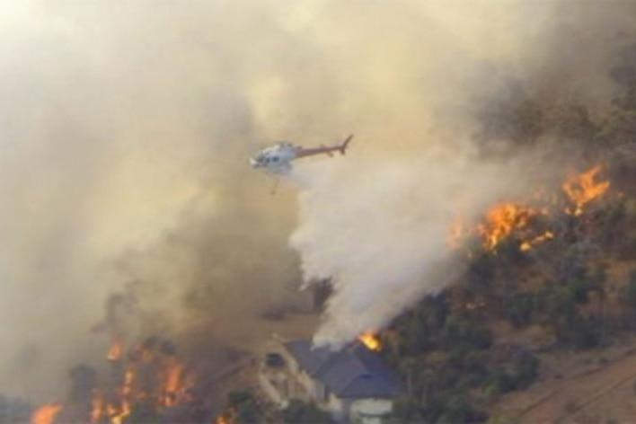 Home saved in Brigadoon bushfire